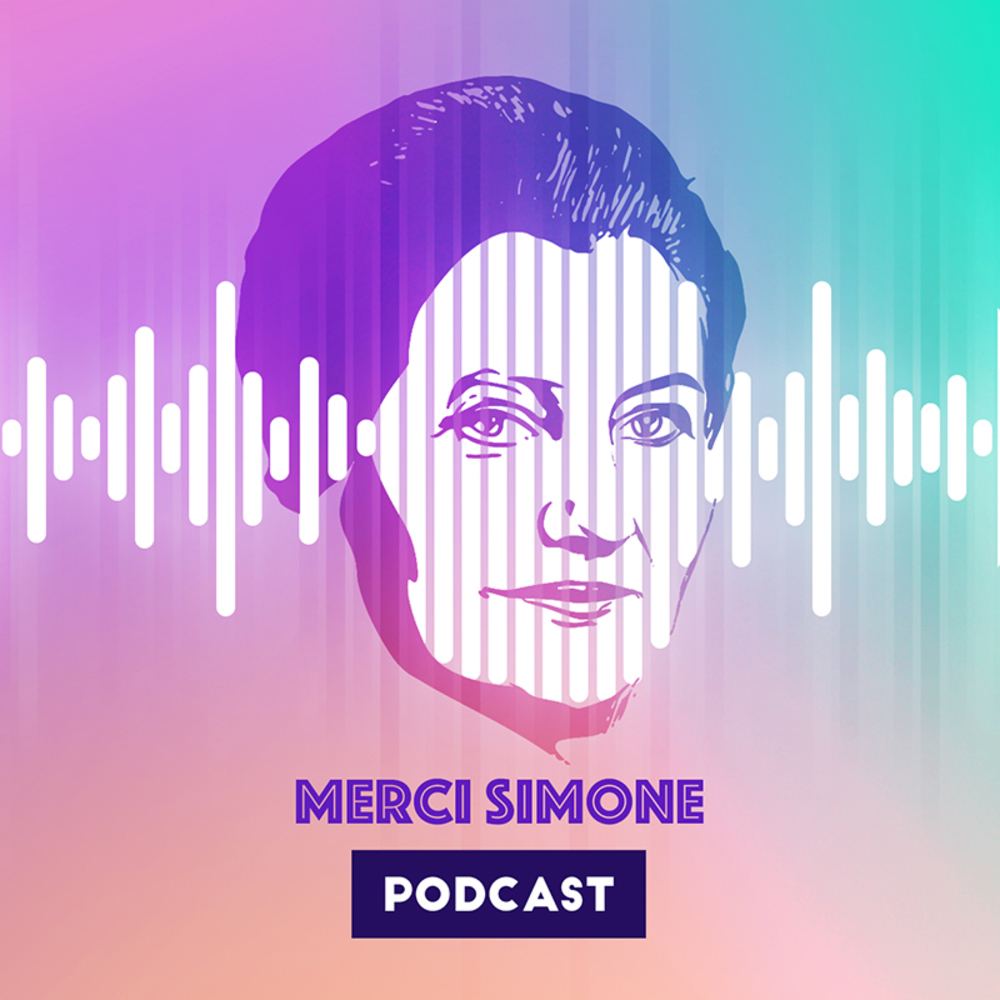 <p>Logo du Podcast @MerciSimone</p>