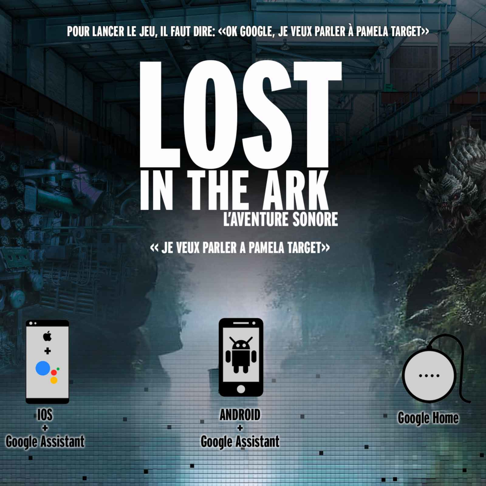 <p>Lost in the ark, Le jeu d'aventure dans l'univers du podcast de fiction Pamela Target</p>